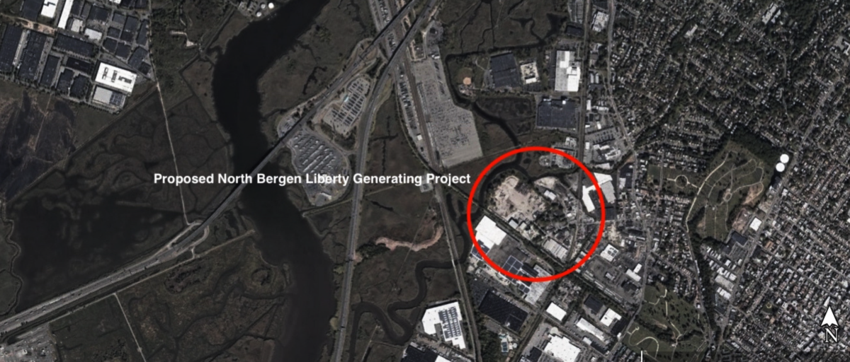Liberty Generating Power Plant Map