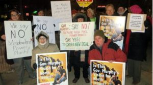 Activists Opposing Meadowlands Power Plant Demonstrate at Englewood City Council Reorganization