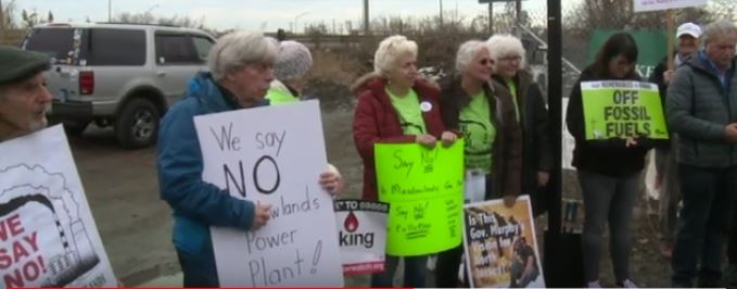 Power Plant Opponents Rally in Ridgefield