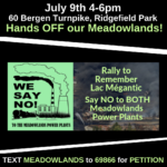 July 9 – Rally Against TWO Meadowlands Power Plants!