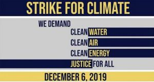 Student-led North Jersey Climate Strike: Friday, Dec. 6, 2019